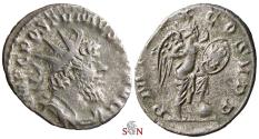 Ancient Coins - Postumus Antoninianus - Victory inscribing shield - Elmer 595