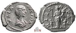 Ancient Coins - Julia Domna Denarius - HILARITAS - RIC 557