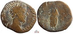 Ancient Coins - Marcus Aurelius Sestertius - VOTA PVBLICA IMP VIIII COS III PP - RIC 1226