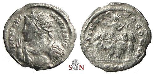 Ancient Coins - Maximinus II. Daia Argenteus - SOLI INVICTO COMITI - Quadriga - RIC 826