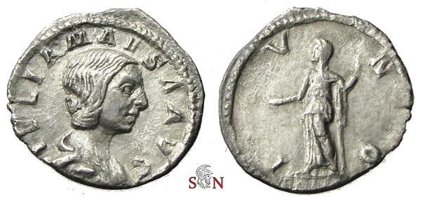 Ancient Coins - Julia Maesa Denarius - IVNO - RIC 49