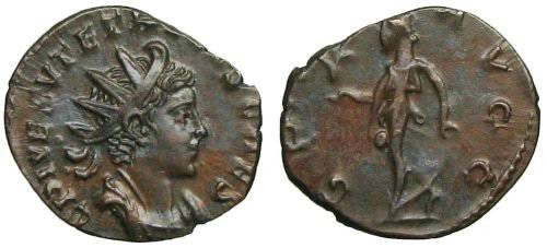 Ancient Coins - Tetricus II Antoninianus - Spes walking left - excellent Portrait