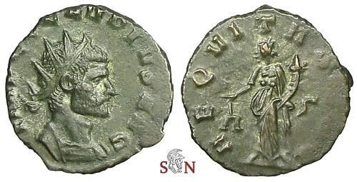 Ancient Coins - Claudius II Gothicus Antoninianus - AEQVITAS AVG / ς - Cunetio 2061