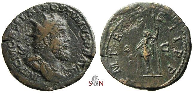 Ancient Coins - Postumus Double Sestertius - P M TR P COS II P P - Bastien 63