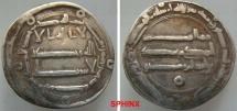 World Coins - 318RL3) THE ABBASID CALIPHATE, FIRST PERIOD : AL-MANSOUR, 136-158 AH / 754-775 AD, AR DIRHAM STRUCK AT THE MINT OF AL-MUHAMADEYYA  IN THE YEAR 155 AH, ALBUM TYPE # 213.2 ; VF