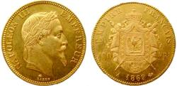 World Coins - 191081-M) FRANCE: AV 100 Francs, 1869A, Ruler: Napoleon III