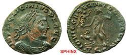Ancient Coins - 771RF19) Licinius AE Follis (3.26 grms,23 mm) . 312-313 AD. IMP LIC LICINIVS P F AVG, laureate, cuirassed bust right. / IOVI CONSERVATORI AVGG NN, Jupiter standing half left, chlam