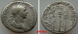 Ancient Coins - 80GC9X) TRAJAN. 98-117 AD. AR Denarius (29 mm, 3.18 g). Struck circa 112-115 AD. IMP TRAIANO AVG GER DAC P M TR P COS VI P P,   laureate and draped bust right / S P Q P OPTIMO PRIN
