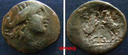 Ancient Coins - 511EK0) MACEDON, Amphipolis. Circa 146 BC-time of Augustus, AE 22 mm (8.01 g, 1h). Laureate head of Zeus right / Two rampant goats confronted. aVF
