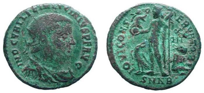 Ancient Coins - 590ROM) LICINIUS, 317-324 AD, AE3 FOLLIS, SEAR # 3815, NICE PEACKOK REV. aVF.