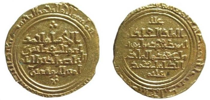 Ancient Coins - 1136CHG) AYYUBIDS, AL-'ADEL ABU BAKR I, 592-615 AH / 1196-1218 AD, GOLD DINAR, 5.01 GRAMS, MINT AL-ASKANDARIYA (ALEXANDRIA, EGYPT) DOF, TYPE OF ALBUM A-801, IN VF+ COND AND ATTRACT