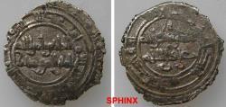 World Coins - 593RM19) FATIMID, AL-HAKIM BI AMR ELLAH, 386-411 AH / 996--1021 AD, AR HALF Dirham, 1.52 grms, 18 mm, Album 711, VF for type.