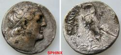 Ancient Coins - 417CFH18) PTOLEMAIC KINGS of EGYPT. Ptolemy II Philadelphos. 285-246 BC. AR Tetradrachm (25 mm, 11.77 g).  Too worn to attribute but most probably from faint marks :Tyre mint. Date