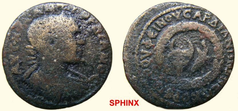 Ancient Coins - 573HM3) LYDIA, Sardis. Gordian III. AD 238-244. Æ (24.40 mm, 6.30 g, 6h). Ermophilos, magistrate. Radiate and cuirassed bust right / Bucranium and torch within wreath. BMC 189-190,