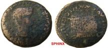 Ancient Coins - 815HM3) ITALICA (H.Baetica), Tiberius, 14-37 AD, AE 27.5 mm, 10.40 grms, Rev. altar inscribed : PROVIDE/NTIAE/AVGVSTI, CNR IX 455, Fine cond.