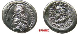 Ancient Coins - 870KH7Z) KINGS of PERSIS. Napād (Kapat). 1st century AD. AR Hemidrachm (14 mm, 1.96 g). Istakhr (Persepolis) mint. Bearded bust left, wearing diadem and Parthian-style tiara
