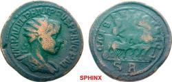 Ancient Coins - 430FFAK19) Rare.*** PISIDIA Antioch Philip II AD 247-249. Bronze (AE; 27-28mm; 11.74g; 6h) IMP M IVL PHILIPPVS PF AVG P M Radiate, draped and cuirassed bust of Philip to right.