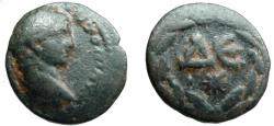 Ancient Coins - 29CK) ROMAN PROVINCIAL BRONZE, Elagabalus, Antioch on Orontes. ΔE within wreath, radiate star below;   17.5 MM, 5.42 GRMS, SOLD AS IS NO   RETURN.