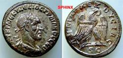 Ancient Coins - 724HM3) SYRIA, Seleucis and Pieria. Antioch. Trajan Decius. AD 249-251. AR Tetradrachm (26 mm, 12.59 g, 7h). Struck AD 250-251. Laureate, draped, and cuirassed bust right, seen fro