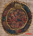 Ancient Coins - 38COP) Colorful and enigmatic Coptic textile roundel.RARE.