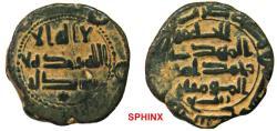 Ancient Coins - 767RG19) 'Abbasid Caliphate. Al-Mahdi. AH 158-169 / AD 775-785. AE Fals (17 mm, 2.85 g). Struck at Istakhr dated 167 AH, citing governor (al-) Rabi' (b. Yunis) on lower reverse, Sh