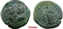 Ancient Coins - 670ER6) MOESIA INFERIOR, Marcianopolis. Elagabalus, with Julia Maesa. AD 218-222. Æ Pentassarion (28 mm, 12.85 g). Julius Antonius Seleucus, legatus consularis. RARE