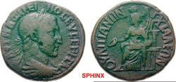 Ancient Coins - 8AK8FM) THRACE Anchialos Maximinus I AD 235-238. Bronze (AE; 25-26mm; 11.32g; 1h) AVT MAΞIMEI-NOC EVCEBHC AVΓ (partly ligate)   Laureate and draped bust of Maximinus RARE
