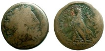 Ancient Coins - 605EC) PTOLEMAIC KINGDOM, EGYPT, ALEXANDRIA, PTOLEMY II PHILADELPHOS, 285-246 BC; AE 30 MM, 21.03 GRMS, OBV. ZEUS HEAD RIGHT, REV. EAGLE STANDING LEFT, SNG COP.155, IN aFINE COND.