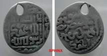 World Coins - 84RR8) ILKHAN MONGOLS OF PERSIA, FIRST PERIOD; LOCAL COINAGE, AHMAD TEKUDAR 681-683 AH / 1282-1284 AD. AR dirham NM, ND, Uighur obverse with AHMAD added in Arabic in lower obv.RARE