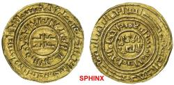 World Coins - 922GBH19) CRUSADER KINGDOM OF JERUSALEM: AV bezant (3.69 grms), Ma-4, A-730, in the name of the Fatimid ruler al-Âmir (1101-1130), struck circa 1160-1210, Arabic legends distorted