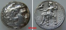 Ancient Coins - 58ERH3) SELEUKID KINGS of SYRIA. Seleukos I Nikator. 312-281 BC. AR Tetradrachm (26 mm, 16.92 g, 3h). In the name and types of Alexander III of Macedon. Babylon I mint. Struck circ