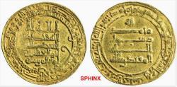 World Coins - 321REL0Z) ABBASID, THIRD PERIOD, AL-MUQTADIR, 295-320 AH / 908-932 AD, GOLD DINAR, 4.32 GRMS, 24.5 MM, STRUCK AT TUSTAR MIN AL-AHWAZ, IN 319 AH, LAVOIX -----, ALBUM TYPE 245.2  VF