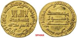 World Coins - 289EGK0Z)  ISLAMIC, 'Abbasid Caliphate. temp. al-Mahdi. AH 158-169 / AD 775-785. AV Dinar (19 mm, 4.15 gr). Unnamed (Probably Madinat Al-Salam) mint. Dated AH 168 (AD 784/85). AGC