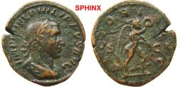 Ancient Coins - 625RM6) Philip I. AD 244-249. Æ Sestertius (30 mm, 18.67 g). Rome mint, 6th officina. 2nd emission, AD 244. IMP M IVL PHILIPPVS AVG, laureate, draped, and cuirassed bust right, VF