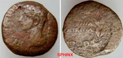 Ancient Coins - 782HM3) SPAIN, Corduba. Augustus. 27 BC-AD 14. Æ As (25 mm, 8.94 g, 6h). Bare head left / COLONIA/PATRICIA within wreath with central jewel. NICER THAN PHOTO SUGGESTS