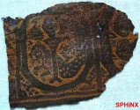 Ancient Coins - 116COP) SMALL COPTIC TEXTILE PANEL FROM A TUNIC; WITH STYLIZED ANIMALS
