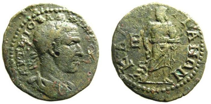 Ancient Coins - 19CK) THRACE, CALLATIS, PHILIP I, 244-249 AD, AE PENTASSARION, 27.5 MM, 13.58 GRMS, LAUREATE HEAD RIGHT, ASKLEPIOS, MOUSHMOV # 334, IN aVF COND.