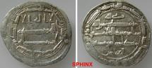World Coins - 411RF7X) THE ABBASID CALIPHATE, FIRST PERIOD : AL-AMIN, 193-198 AH / 809-813 AD, AR DIRHAM STRUCK AT THE MINT OF MADINAT AL-SALAM (PRESENT DAY BAGHDAD) IN THE YEAR 196 AH aXF