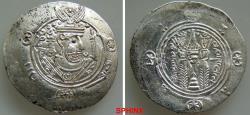 World Coins - 329GC0Z)  'Abbasid Governors of Tabaristan. Sa'īd ibn Da'laj. PYE 125-127 / AH 160162 / AD 776-778. AR Hemidrachm (24 mm, 1.91 grms). Dated PYE 126 درهم سعيد بن دعلج XF