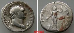 Ancient Coins - 229GG18) TITUS, as Caesar. 75-79 AD. AR Denarius (3.20 gm, 19 mm). T CAESAR IMP VESPASIANVS, laureate head right / IOVIS CVSTOS, Jupiter standing left, holding patera SCARCE