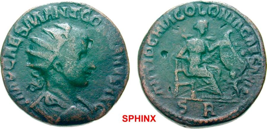 Ancient Coins - 424FFAK19) PISIDIA Antioch Gordian III AD 238-244. Bronze (AE; 31-32mm; 23.95g; 6h) cast ? IMP CAES M ANT GORDIANVS AVG Radiate, draped and cuirassed bust of Gordian to right. Rev.