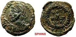 Ancient Coins - 605RM6) Julian II, AD 360-363,  AE3 ( 19 mm, 2.61 grms ). AD 361-363. DN FL CL IVLIANVS PF AVG VOT X MVLT XX mint Thessalonica RIC VIII 227; FINE.