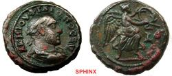 Ancient Coins - 27EH17) EGYPT, Alexandria. Philip I. AD 244-249. BI Tetradrachm (23 mm, 12.97 g, 12h). Dated RY 4 (AD 246/7). Laureate, draped, and cuirassed bust right / Nike advancing right, hol