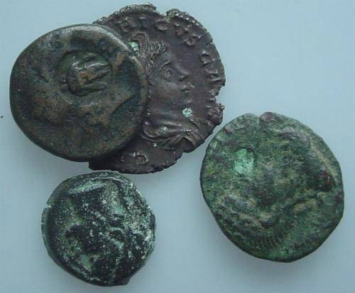 Ancient Coins - MISBGN10) MISCELLANEOUS STUDY GROUP ; OBVIOUSLY WITH SOME IMPERFECTIONS BUT GENERALLY COLLECTABLE; SOLD AS IS NO RETURN; THIS GROUP CONSISTS OF :