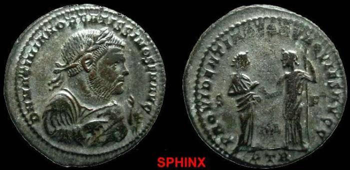 Ancient Coins - 540GG) MAXIMIANUS. 285-305 AD.RARE ABDICATION ISSUE