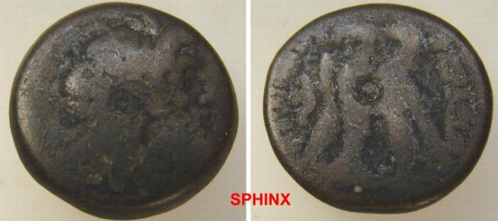 Ancient Coins - 510KM1) PTOLEMAIC KINGS OF EGYPT, AE 20 MM, 8.32 GRMS, ZEUS RIGHT/ DOUBLE EAGLE LEFT;