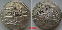 Ancient Coins - 930EF18) OTTOMAN EMPIRE, Sultan Selim III, 1203-1222 AH / 1789-1807 AD, AR 2 Kurush (2 piasters), 44 mm Diameter, 31.65 grms weight, dually dated accession year 1203 and reignal ye