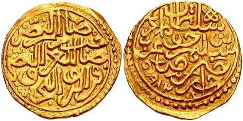 Ancient Coins - ISLAMIC DYNASTIES. Ottomans. Murad III. 1574-1595. AV Sultani (20mm, 3.43 gm). Jezayir mint. Dated 982 AH (1574 AD).