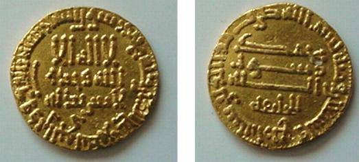 Ancient Coins - 446AVSLM) EGYPT; THE ABBASID CALIPHATE, FIRST PERIOD : AL-AMIN, 193-198 AH / 809-813 AD, GOLD DINAR 4.30 GRAMS, STRUCK IN THE YEAR 194 AH, NO MINT BUT BELIEVD TO BE STRUCK IN EGYPT