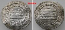 World Coins - 849EE8) ABBASSID, THIRD PERIOD, AL-MU'TADID, 279-289 AH / 892-902 AD, AR DIRHAM STRUCK AT RAS AL 'AYN  IN 283 AH, WITHOUT HEIR; ALBUM TYPE 242, ** RARE **  VF